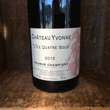 """Château Yvonne """"L'île Quatre Sous"""" Saumur Champigny Cabernet Franc 2015"""
