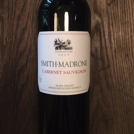 Smith Madrone Estate Bottled Napa Valley Cabernet Sauvignon 2013