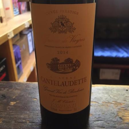 Château Cantelaudette Cuvée Prestige Graves de Vayres Red Bordeaux Blend 2014