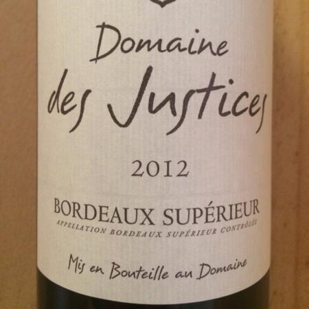 Domaine des Justices Bordeaux Respide Medeville 2012