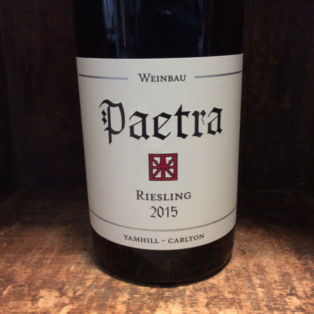Paetra Yamhill-Carlton District Riesling  2015