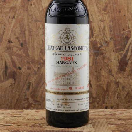 Château Lascombes Margaux Red Bordeaux Blend 1981