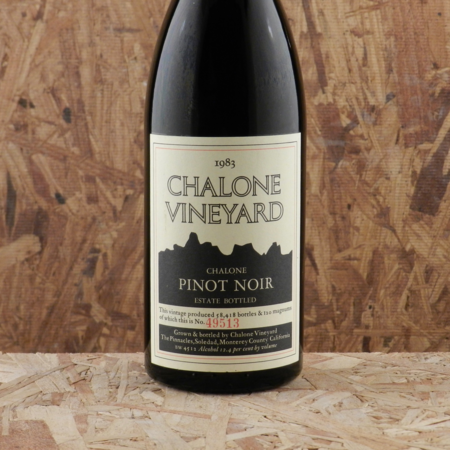 Chalone Vineyard Estate Grown Chalone Pinot Noir 1983