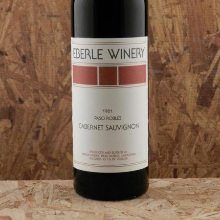 Eberle Estate Bottled Paso Robles Cabernet Sauvignon 1981