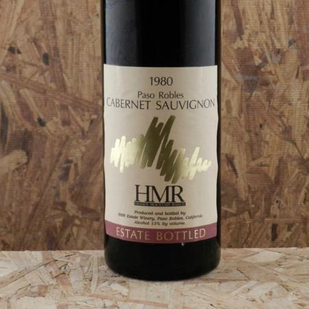HMR Estate Winery Paso Robles Cabernet Sauvignon 1980