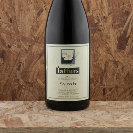 Jaffurs Wine Cellars Santa Barbara County Syrah 2003