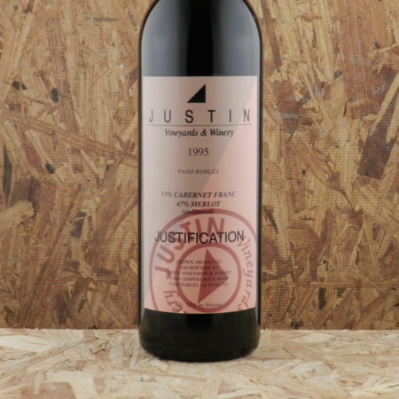 Justin Vineyards & Winery Justification Paso Robles Cabernet Franc-Merlot Blend 1995