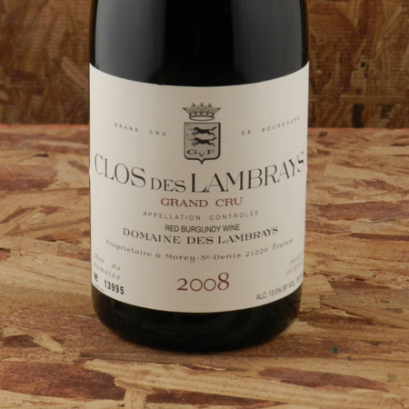 Domaine des Lambrays Clos des Lambrays Grand Cru Pinot Noir 2008