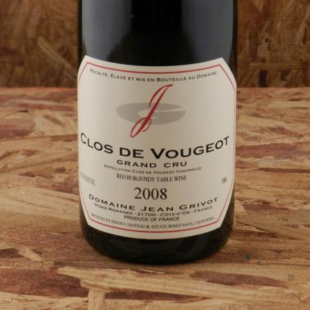 Domaine Jean Grivot Clos de Vougeot Grand Cru Pinot Noir 2008
