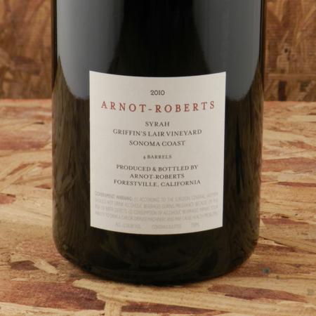 Arnot-Roberts Griffin's Lair Vineyard Syrah 2010
