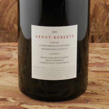 Arnot-Roberts Alder Springs Vineyard Syrah 2010