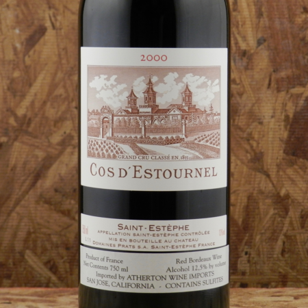 Château Cos d'Estournel Saint-Estèphe Red Bordeaux Blend 2000
