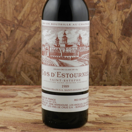 Château Cos d'Estournel Saint-Estèphe Red Bordeaux Blend 1989 (375ml)