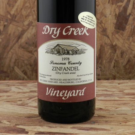 Dry Creek Vineyard Sonoma County Zinfandel 1978