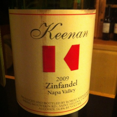 Robert Keenan Winery Napa Valley Zinfandel 2013