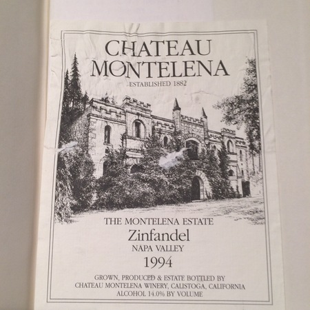 Chateau Montelena Montelana Estate Zinfandel 1994