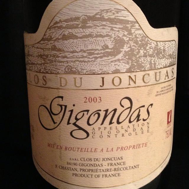 Clos du Joncuas Gigondas Red Rhone Blend 2010