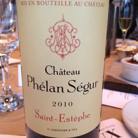 Château Phélan Ségur Saint-Estèphe Red Bordeaux Blend   2010