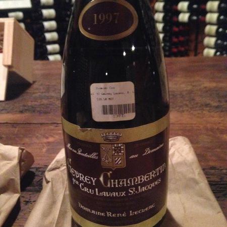 Domaine Rene Leclerc Lavaux St. Jacques Gevrey-Chambertin 1er Cru Pinot Noir 1997
