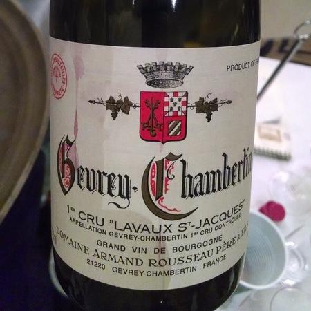 Domaine Armand Rousseau  Lavaux St. Jacques Gevrey-Chambertin 1er Cru Pinot Noir 2011