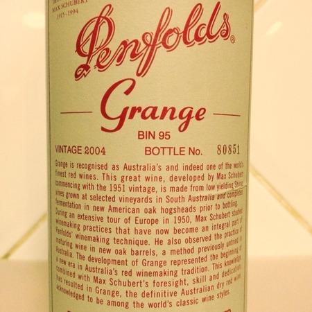 Penfolds Grange Bin 95 Shiraz 2009