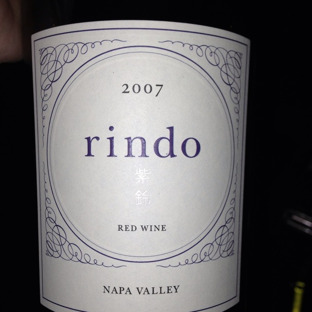 Kenzo Estate Rindo Estate Bottled Napa Valley Cabernet Sauvignon Blend 2007