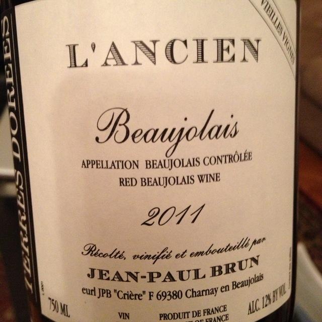 Domaine des Terres Dorées (Jean-Paul Brun) Cuvée l'Ancien Vieilles Vignes Beaujolais Gamay 2016