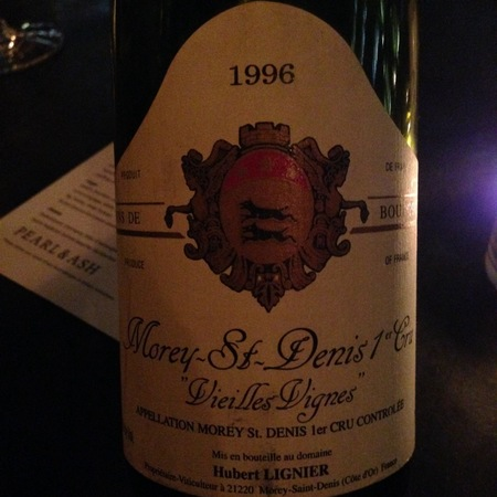 Hubert Lignier Vieilles Vignes Morey St. Denis 1er Cru Pinot Noir 1996