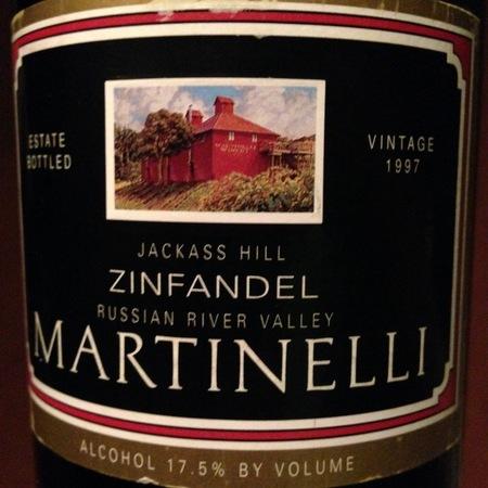 Martinelli Jackass Hill Zinfandel 1997