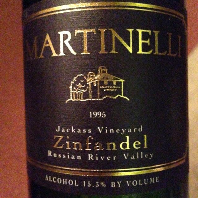 Martinelli Jackass Vineyard Zinfandel 1995