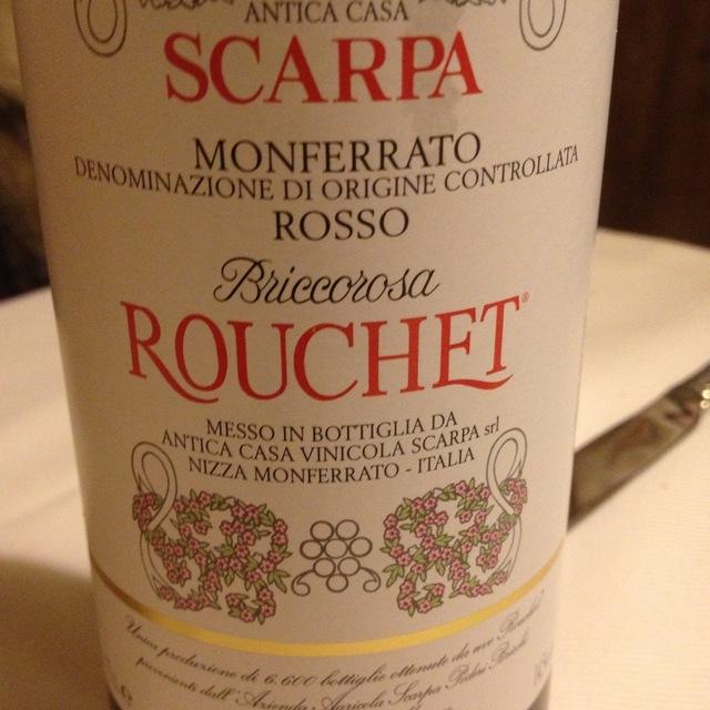Briccorosa Rouchet Monferrato Rosso Ruche 1998