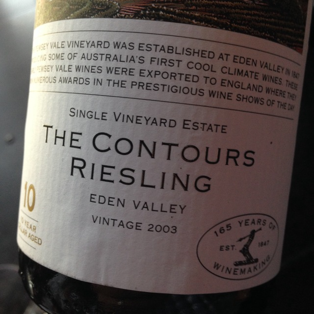 Pewsey Vale Vineyard The Contours 10 Year Cellar Aged Riesling 2011