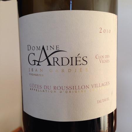 Domaine Gardiés Clos des Vignes Côtes du Roussillon Villages Tautavel Grenache Blend 2012
