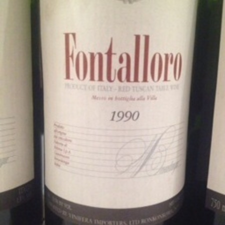 Fattoria di Fèlsina Berardenga Fontalloro Toscana Sangiovese 1990