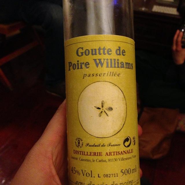 Distillerie Cazottes (Laurent Cazottes) Goutte de Poire Williams Eau de Vie NV (375ml)
