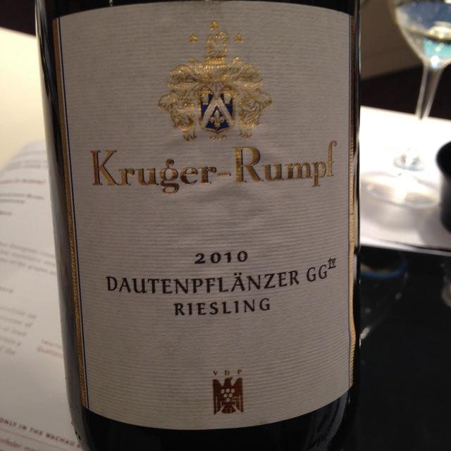 Kruger-Rumpf Dautenpflänzer Großes Gewächs Riesling 2015