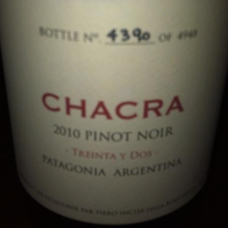 Bodega Chacra Treinta y Dos Patagonia Pinot Noir 2015