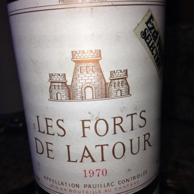 Le Pauillac de Chateau Latour Red Bordeaux Blend 1970