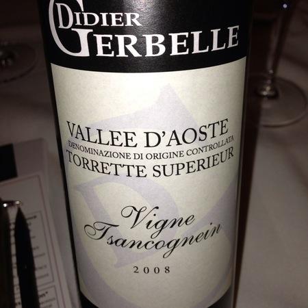 Didier Gerbelle Vigne Tsancognein Torrette Superieur Petit Rouge 2014
