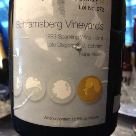 Schramsberg Vineyards J. Schram Late Disgorged Brut Sparkling Blend 1988