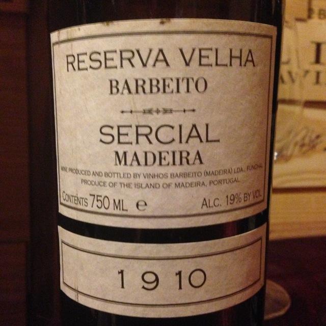 Reserva Velha Madeira Sercial 1910