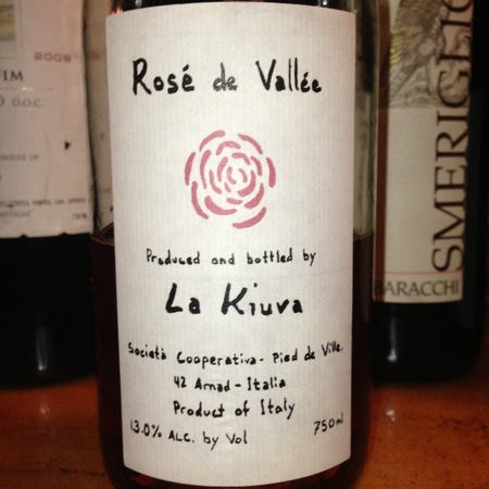 La Kiuva Rosé de Vallée  2016