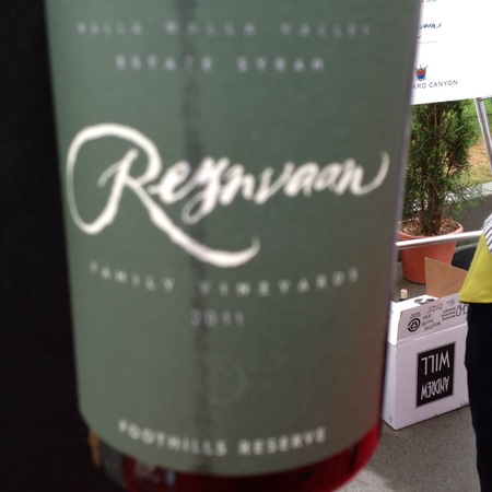 Reynvaan Family Vineyards Foothills Reserve Syrah 2014