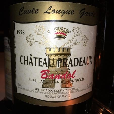 Château Pradeaux Cuvée Longue Garde Bandol Mourvedre Blend 2010