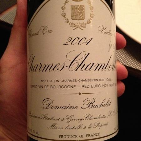 Domaine Bachelet Vieilles Vignes Charmes-Chambertin Grand Cru Pinot Noir 1985