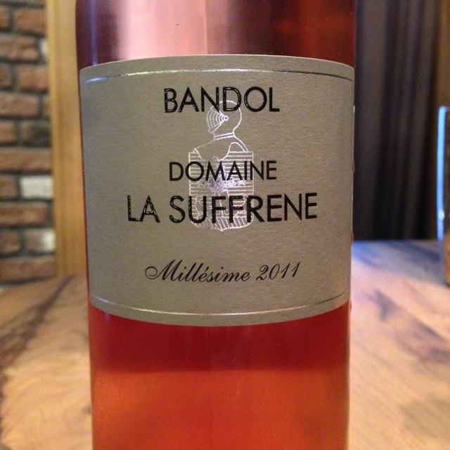 Domaine La Suffrene Bandol Rosé Mourvedre Blend 2015