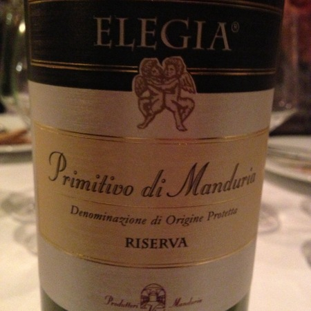Consorzio Produttori Vini Manduria Elegia Riserva Primitivo di Manduria 2013
