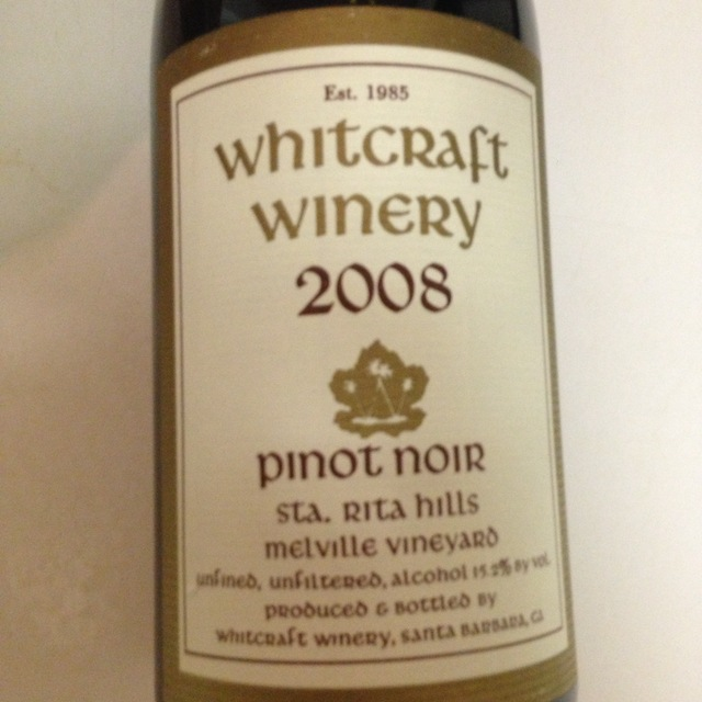 Whitcraft Winery Melville Vineyard Pinot Noir 2014