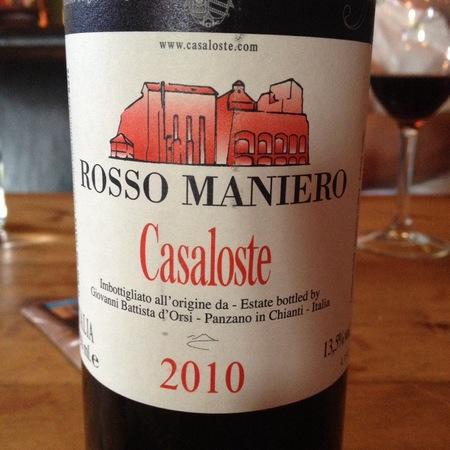 Casaloste Rosso Maniero Chianti 2014