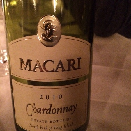 Macari Estate Bottled North Fork of Island Chardonnay 2010